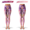 Floral Portrait Leggings  -  Yoga Pants