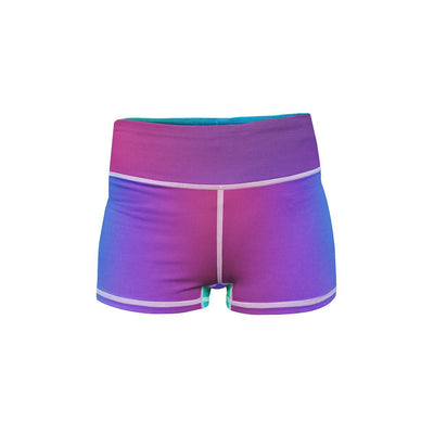 Fluorescent Mirage Yoga Shorts  -  Women's Shorts