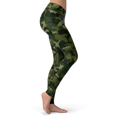 Forest Camo Leggings  -  Yoga Pants