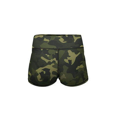 Forest Camo Yoga Shorts  -  Women's Shorts