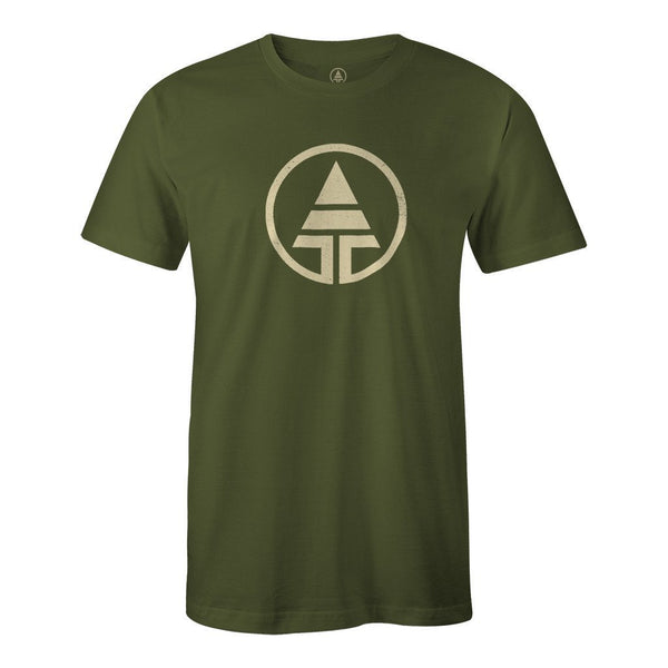 Tribe Logo Hemp/Organic Cotton Tee - Forest Green  -  Men's T-Shirt