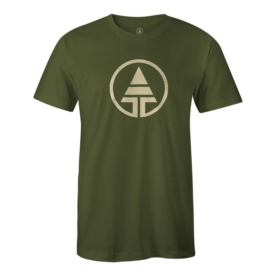 Tribe Logo Hemp/Organic Cotton Tee - Forest Green