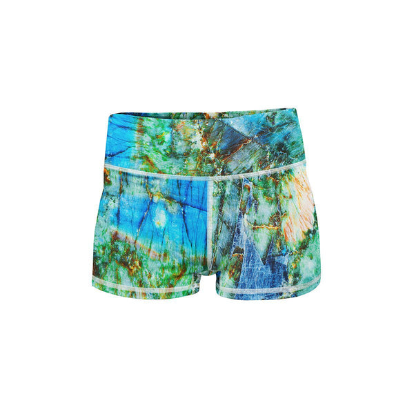 Gem Reef Yoga Shorts  -  Women's Shorts
