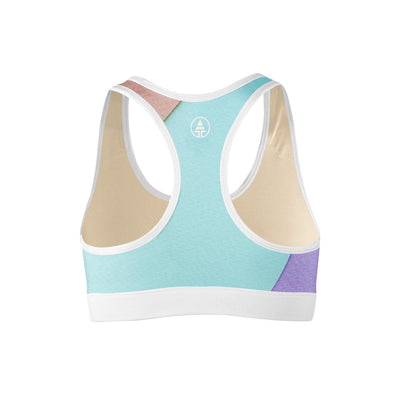 Geo Block Sports Bra  -  Yoga Top