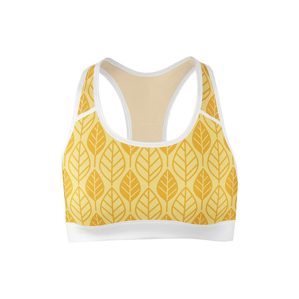 Golden Leaf Sports Bra  -  Yoga Top