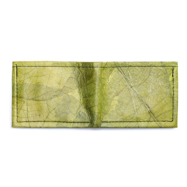 Leaf Leather Bifold Wallet - Green  -  LL Bifold Wallet Green