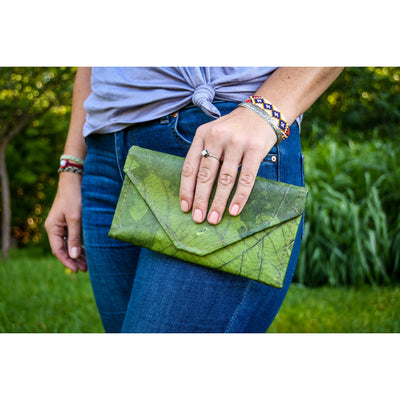 Envelope Clutch - Green