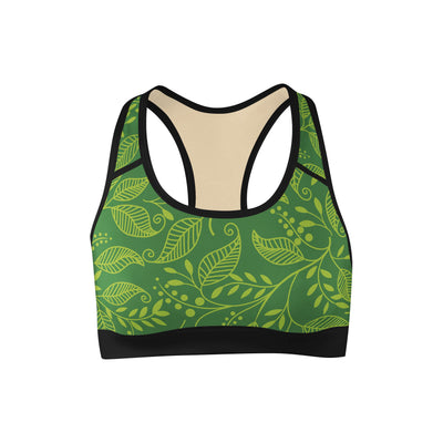 Green Leaf Sports Bra