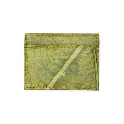 Leaf Leather Slim Wallet - Green  -  LL Slim Wallet Green