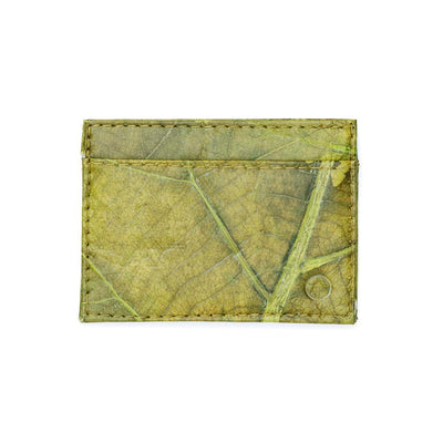 Leaf Leather Slim Wallet - Green