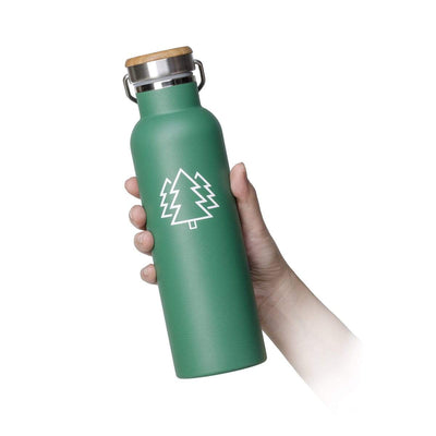Green Trees Stainless Steel Bottle - 20 oz