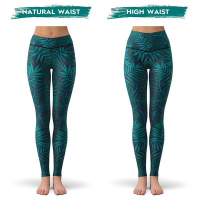 Jungle Palms Leggings  -  Yoga Pants