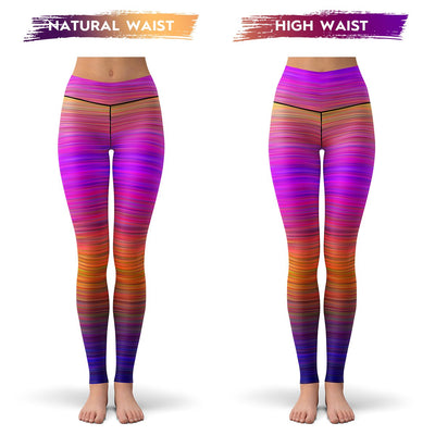 Kinetic Rainbow Leggings  -  Yoga Pants