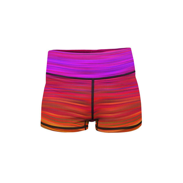 Kinetic Rainbow Yoga Shorts  -  Women's Shorts