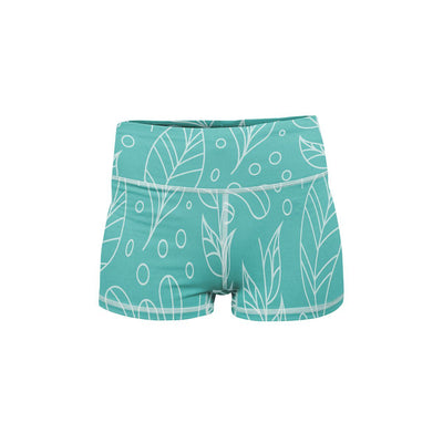 Leaf Love Yoga Shorts  -  Women's Shorts