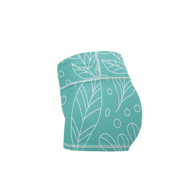 Leaf Love Yoga Shorts  -