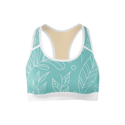 Leaf Love Sports Bra  -  Yoga Top