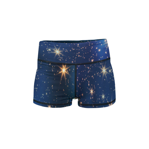 Magic Sky Yoga Shorts  -  Women's Shorts