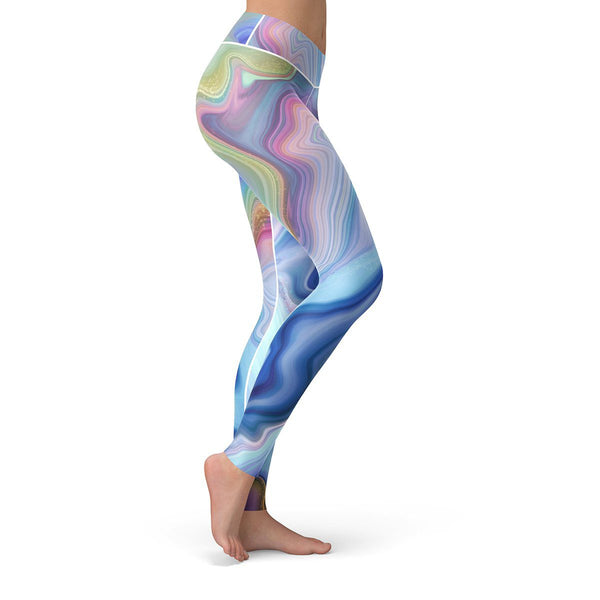 Marble Drift Leggings  -  Yoga Pants
