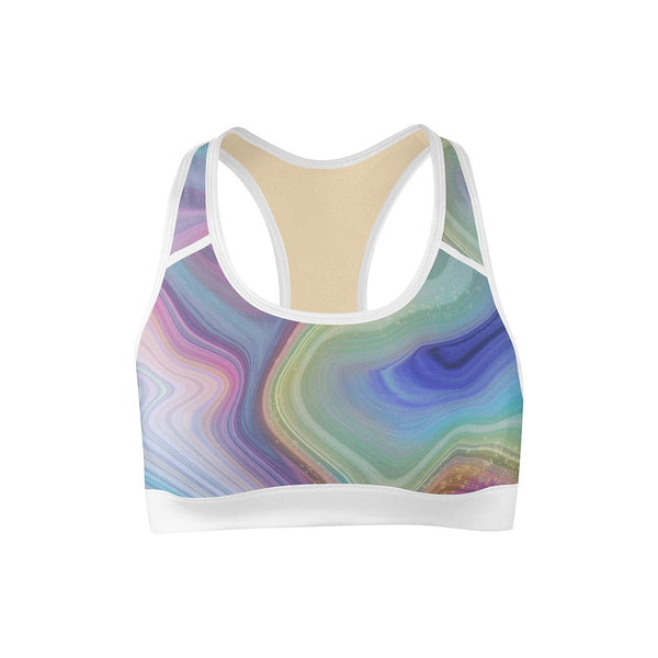 Marble Drift Sports Bra