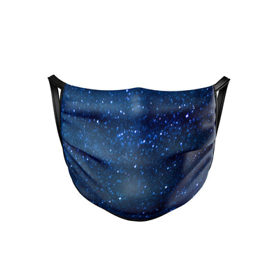 Midnight Blue Stars Face Mask  -  Face Mask
