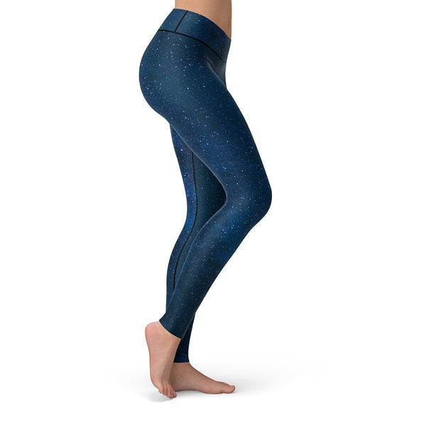 Midnight Blue Stars Leggings  -  Yoga Pants