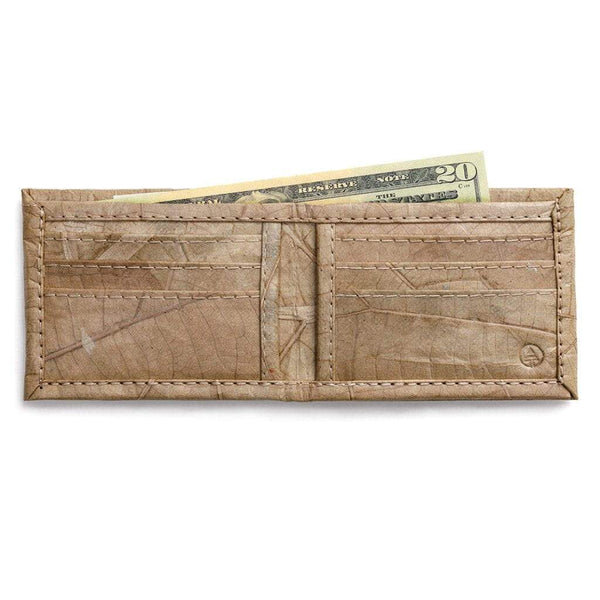 Leaf Leather Bifold Wallet - Natural  -  LL Bifold Wallet Natural