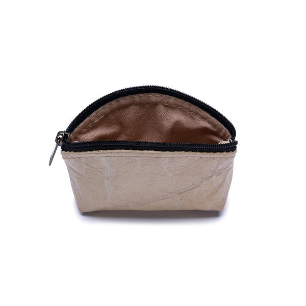 Leaf Leather Coin Bag - Natural  -  LL Coin Bag Natural