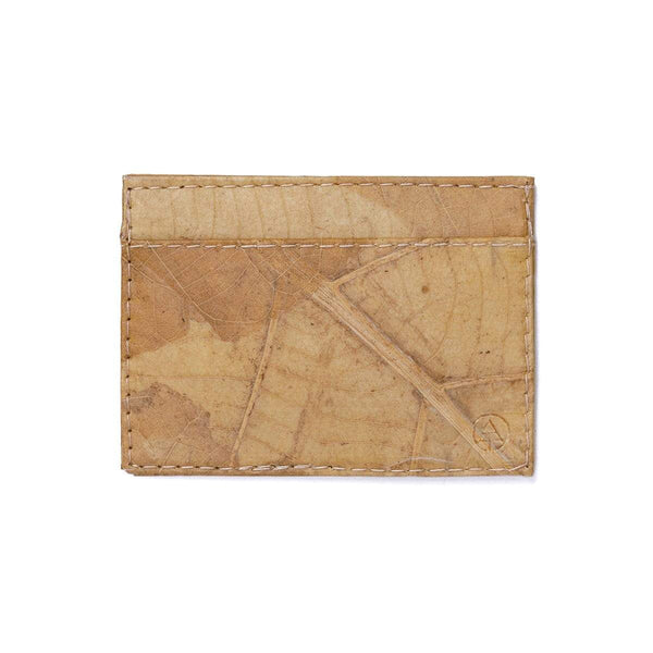 Leaf Leather Slim Wallet - Natural