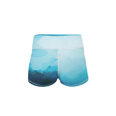 Nautical Storm Yoga Shorts  -  Women's Shorts