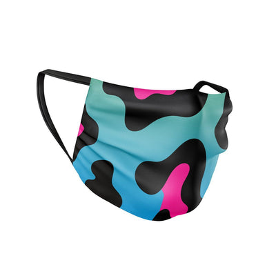 Neon Leopard Face Mask  -  Face Mask