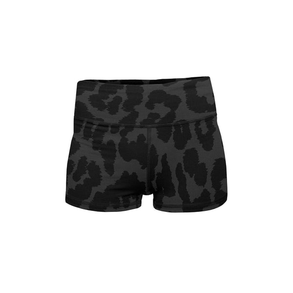 Night Leopard Yoga Shorts  -  Women's Shorts