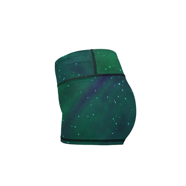 Northern Lights Yoga Shorts  -  Women's Shorts