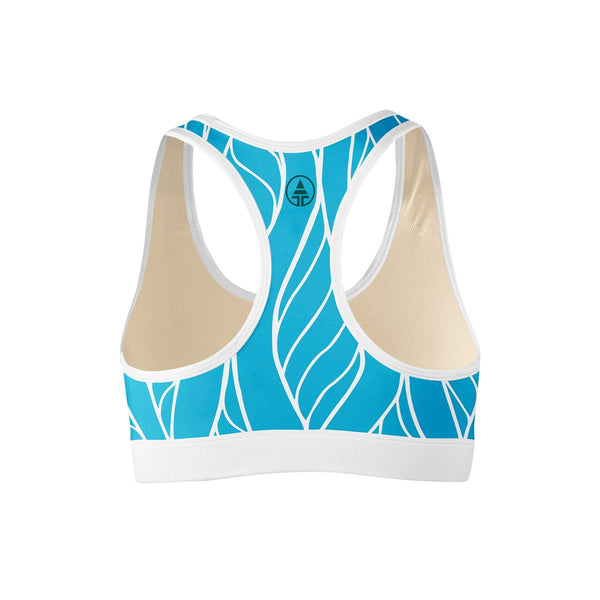 Ocean Floral Sports Bra  -  Yoga Top