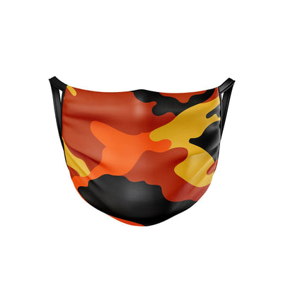 Orange Camo Face Mask  -  Face Mask