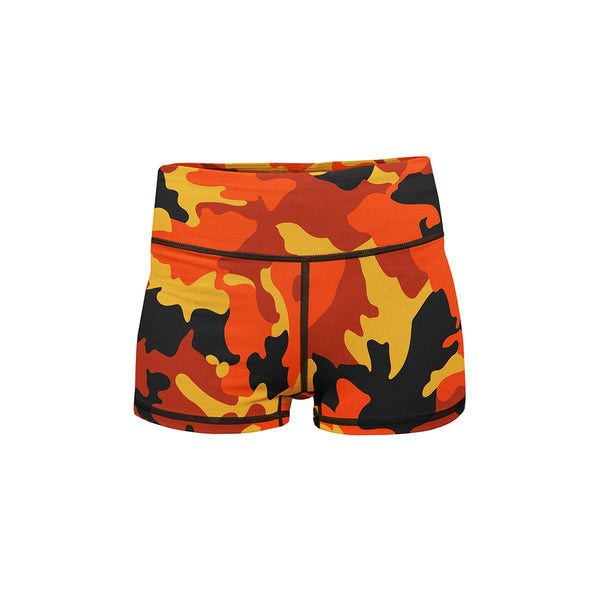 Orange Camo Summer Shorts