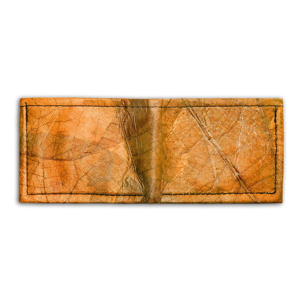 Leaf Leather Bifold Wallet - Orange  -  LL Bifold Wallet Orange
