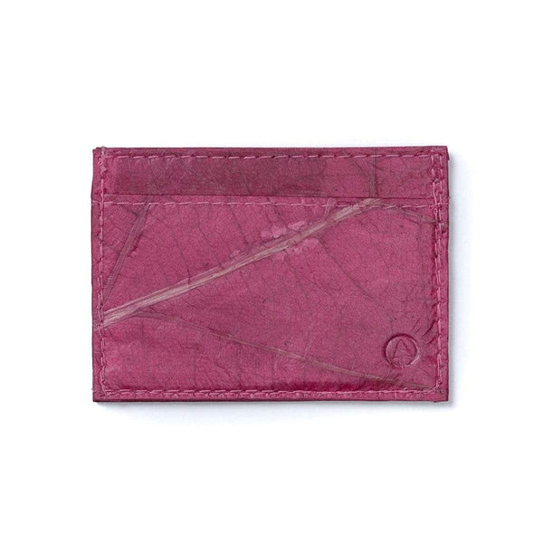 Leaf Leather Slim Wallet - Pink Rose  -  LL Slim Wallet Pink Rose