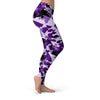 Purple Camo Leggings  -  Yoga Pants