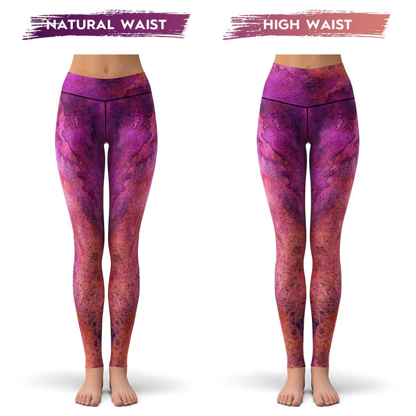 Purple Planet Leggings  -  Yoga Pants
