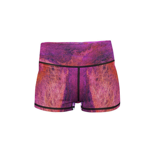 Purple Planet Yoga Shorts  -  Women's Shorts