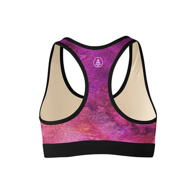 Purple Planet Sports Bra  -  Yoga Top