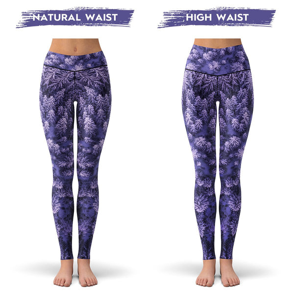Purple Winter Leggings  -  Yoga Pants