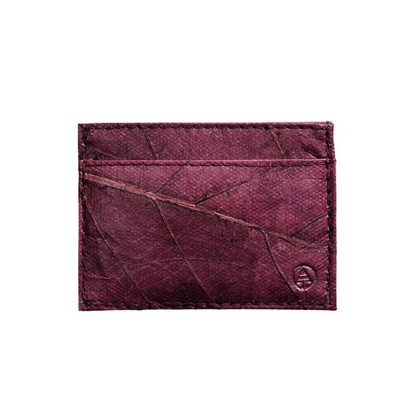 Leaf Leather Slim Wallet - Purple  -  LL Slim Wallet Purple