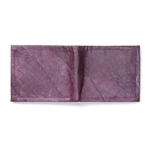 Leaf Leather Bifold Wallet - Purple  -  LL Bifold Wallet Purple