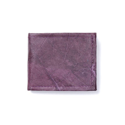 Leaf Leather Bifold Wallet - Purple