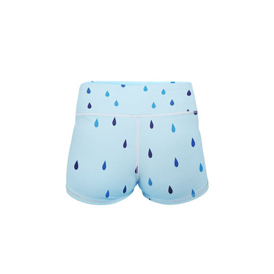 Rain Drops Yoga Shorts  -  Women's Shorts