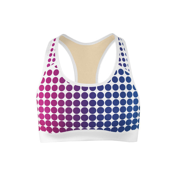 Rainbow Fade Sports Bra  -  Yoga Top