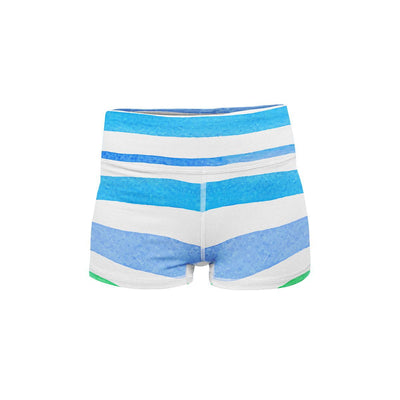 Rainbow Stripes Yoga Shorts  -  Women's Shorts