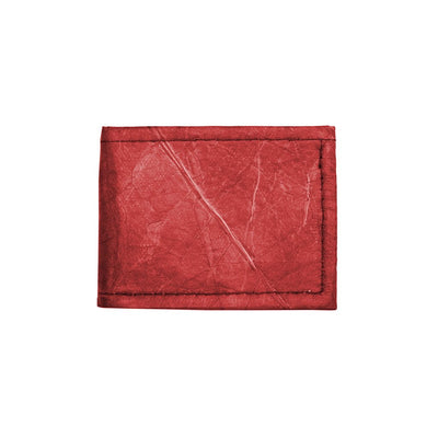Leaf Leather Bifold Wallet - Red